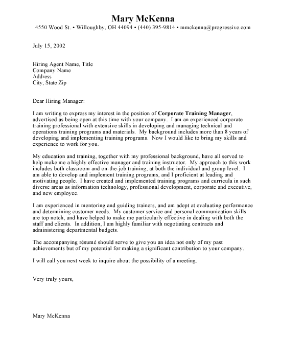 Sample Cover Letter Job | Resume Cover Letter