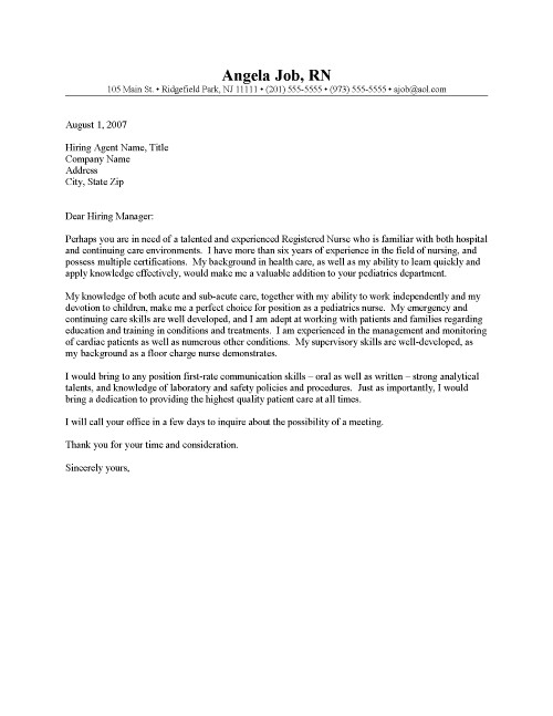 Application letter for fresh graduate nurses | Colorado Leadership ...