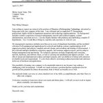 IT Executive Cover Letter Sample