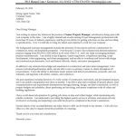 Construction Property Manager Cover Letter Sample