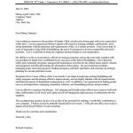 Fire Chief Cover Letter Sample